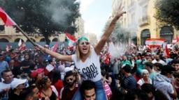 Миллион протестующих на улицах Бейрута. 23 октября 2019 года