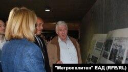 """Кметът на София Йорданка Фандъкова, премиерът Бойко Борисов и шефът на """"Метрополитен"""" инспектират строежа на третата линия на метрото през юни 2017 г."""