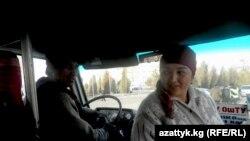 Кыргыз-өзбек жубайлар: Мирзахид менен Жаркынай иш учурунда, Ош, 10-декабрь.