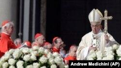 Papa Francisc, la slujba de Paști în Piața Sfântul Petru de la Vatican, 1 aprilie 2018.