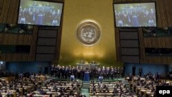 Pamje nga një prej sallave të Kombeve të Bashkuara në Nju Jork. Fotografi nga arkivi.