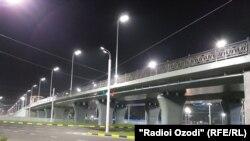 В Душанбе открыта первая в Таджикистане трехуровневая эстакада
