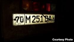 Номер грузовой машины, на который увезли школьный уголь.