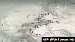 Карта центров заключения АИСП.