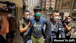 Unul dintre cei patru studenți arestați în Honk Kong în baza legii securității naționale.
