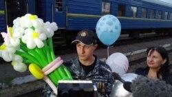 Зустріч моряка Євгена Семидоцького після російського полону – відео