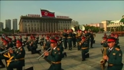 Russian Military Band Plays At Pyongyang Music Ceremony