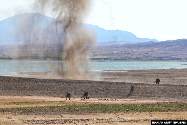 Iranian officials are linking the military drill on its northwestern borders to alleged Israeli influence in Azerbaijan.