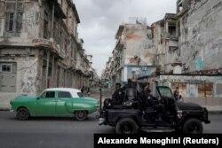 حال و هوای امنیتی در هاوانا در روز سهشنبه ۲۲ تیر
