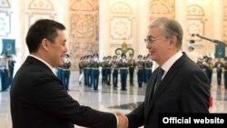 Президентҳои Қирғизистон ва Қазоқистон.