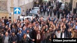 اعتراض دراویش در دی ماه گذشته در تهران