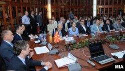 Владина делегација предводена од премиерот Никола Груевски на бизнис форум во Москва.
