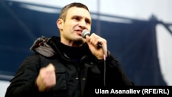 Віталь Клічко выступае на Майдане