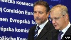 Претседателот Бранко Црвенковски и Комесарот за проширување на ЕУ Оли Рен