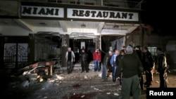 Місце вибуху у Камишли, Сирія, 30 грудня 2015 року