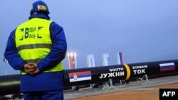 """Početak gradnje gasovoda """"Južni tok"""" u Srbiji, novembar 2013."""