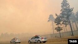 Лесной пожар в Забайкалье, апрель 2015, архивное фото