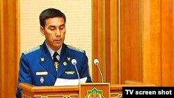 Türkmenistanyň baş prokurory Ý.Ýazmyradow hökümet maslahatynda, 19-njy iýul.
