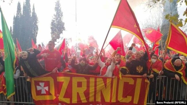Protesta para Kuvendit të Malit të Zi