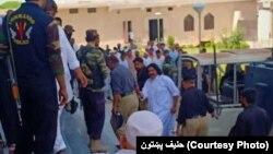بنو: علي وزیر عدالت ته د وړاندېکېدو پرمهال. د ۲۰۱۹ ز کال د جون ۱۷مه نېټه