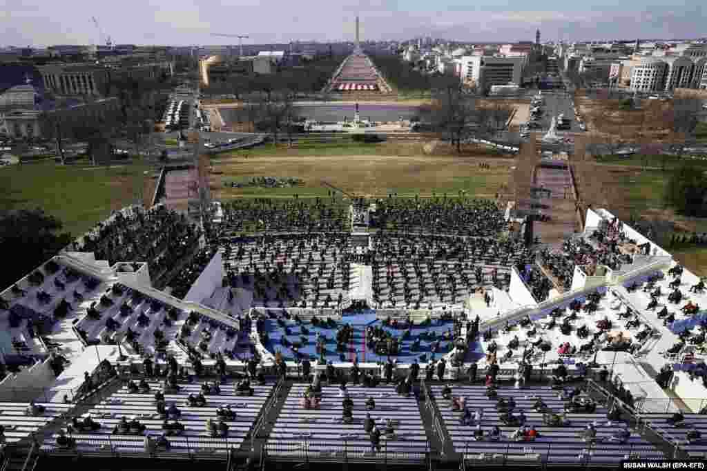 Guests and spectators attend the inauguration of Joe Biden as U.S. President in Washington, DC, January 20, 2021.EPA-EFE/SUSAN WALSH / POOL POOL IMAGE