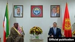 Атамбаевдин Кувейттеги иш сапарынан бир көрүнүш