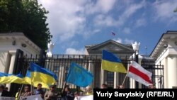 Жалобне віче у Варшаві, присвячене 70-й річниці депортації кримських тарар, 18 травня 2014 року