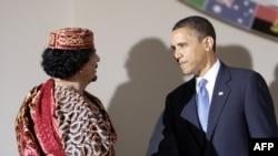 Barak Obama və Müəmmər Qəddafi, 9 iyul 2009
