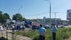 Протест в Рыбнице против аннулирования разрешений на выезд из региона