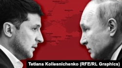 Зеленский и Путин. Коллаж