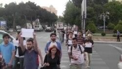 İstanbulda Gezi Parkının dağıdılması Bakıda pislənildi