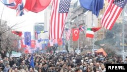 Святкування другої річниці проголошення незалежності Косово. Пріштіна, 17 лютого 2010 року