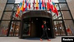 Brüsseldə Avropa Şurasının giriş qapısı