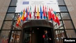 Перед будівлею Європейської ради у Брюсселі, фото 29 серпня