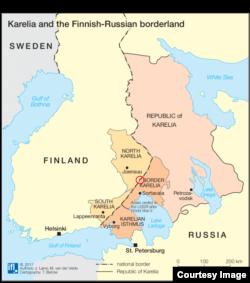 Карта: граница России и Финляндии