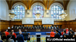 The International Court of Justice has rejected Russia's argument that the Hague-based United Nations court does not have jurisdiction in the case. (file photo)