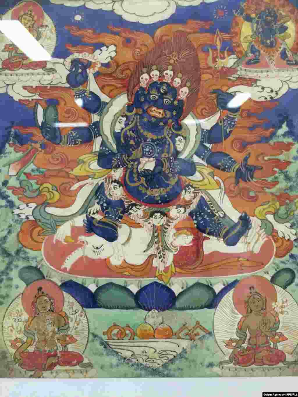 Махакала - грозный защитник буддизма. Китай, 19-й век.
