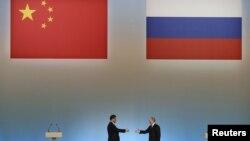 Встреча российского и китайского лидеров в Москве в 2013 году