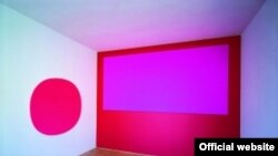 """В произведениях Гайгера преобладают красные и розовые цвета различных оттенков: эти тона были увидены им на закате под Вязьмой в 1942-м году. [Фото — <a href=""""http://www.lenbachhaus.de"""" target=_blank>Lenbachhaus Kunstbau</a>]"""