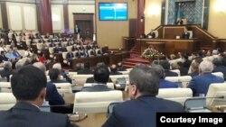 Совместное заседание палат парламента. Астана, 1 сентября 2016 года.