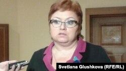 Депутат парламента Светлана Романовская. Астана, 23 января 2014 года.