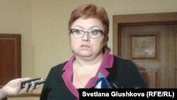 Экс депутат парламента Казахстана Светлана Романовская. Астана, 23 января 2014 года.