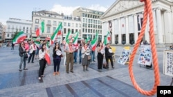 A 2016 protest in Brussels against the death penalty in Iran