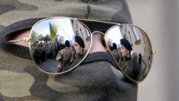 Manifestație naționalistă paramilitară în Kiev.