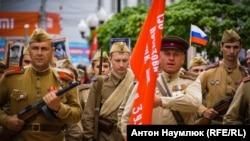 Архивное фото: парад в Симферополе, 9 мая 2018 год