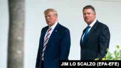 Donald Trump și Klaus Iohannis, la Washington, în vara anului trecut