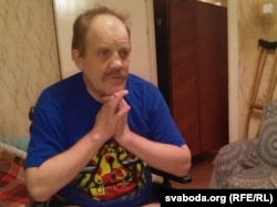 Леанід Казіміраў пасьля першай ампутацыі