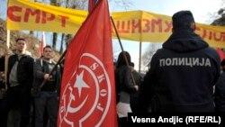 Protest protiv rehabilitacije Milana Nedića