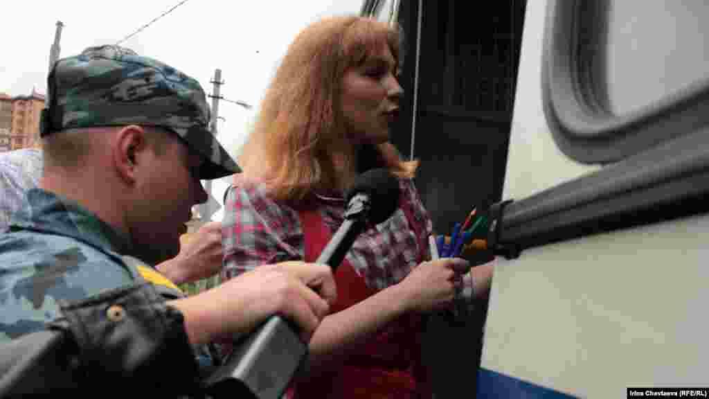 Задержание Алины Гребневой