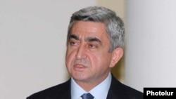 Armenia -- President Serzh Sarkisian